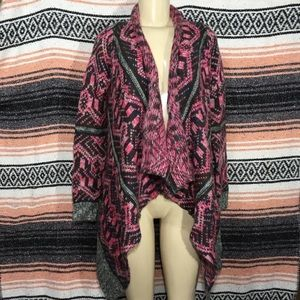ANTHRO STARING AT STARS CHUNKY  BOHO OPEN CARDIGAN